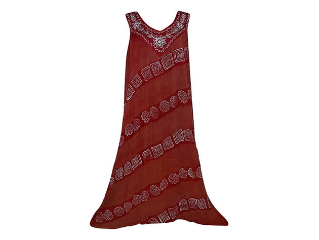 Nagy méretű hosszú ruha Indiából 2502 - piros