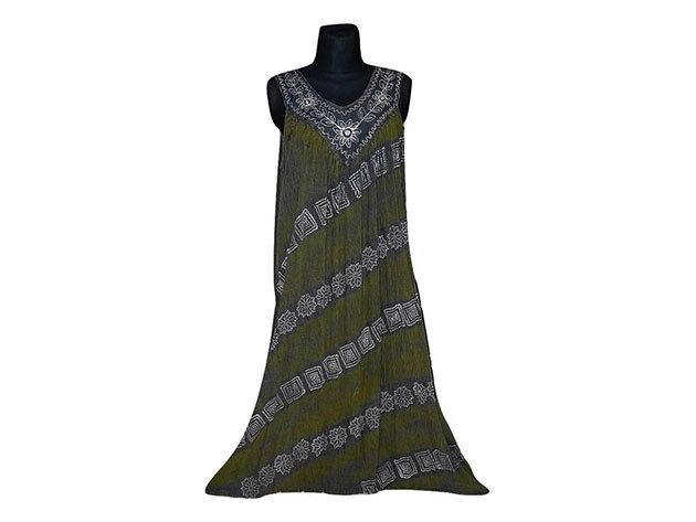 Nagy méretű hosszú ruha Indiából 2502 - szürke