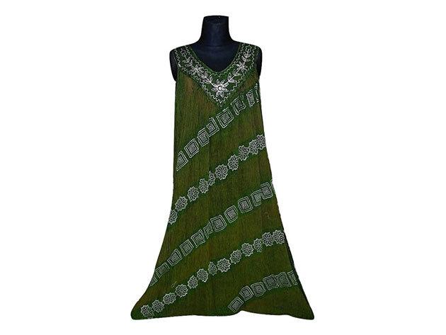 Nagy méretű hosszú ruha Indiából 2502 - zöld