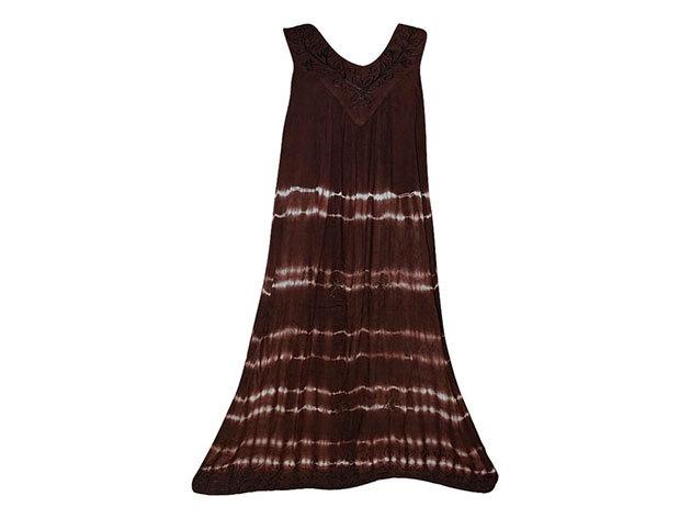 Nagy méretű hosszú ruha Indiából 2507 - barna