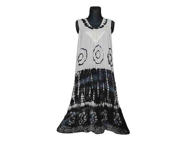 Nagy méretű hosszú ruha Indiából 2501 - fekete
