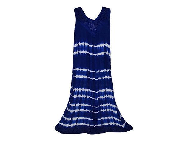 Nagy méretű hosszú ruha Indiából 2507 - kék