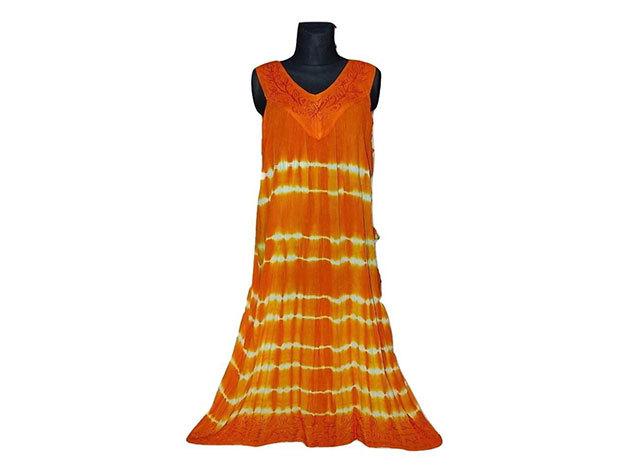 Nagy méretű hosszú ruha Indiából 2507 - narancs