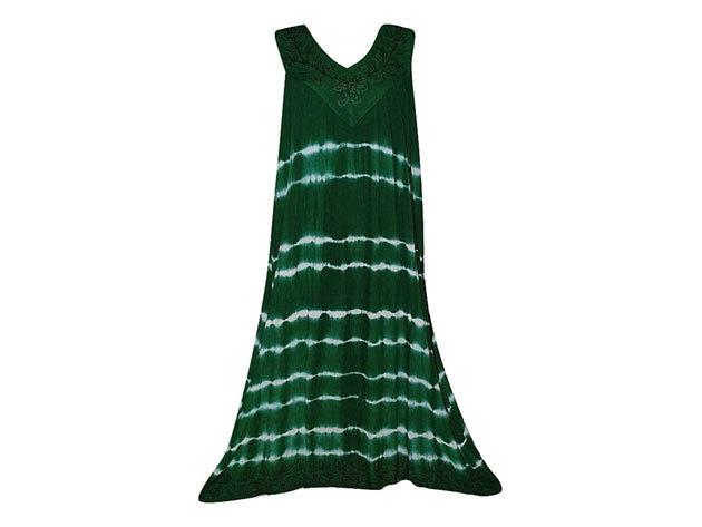 Nagy méretű hosszú ruha Indiából 2507 - sötétzöld