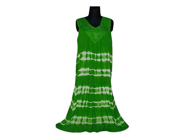 Nagy méretű hosszú ruha Indiából 2507 - zöld