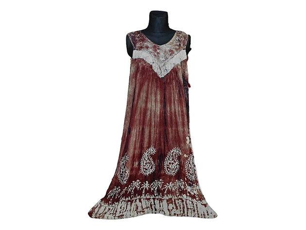 Nagy méretű hosszú ruha Indiából 2205 - bordó
