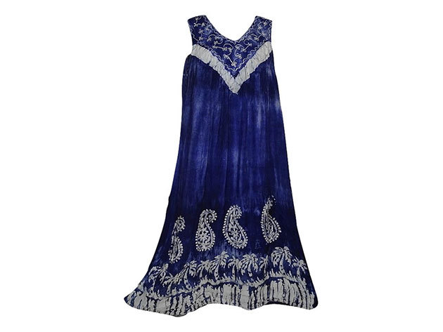 Nagy méretű hosszú ruha Indiából 2205 - kék