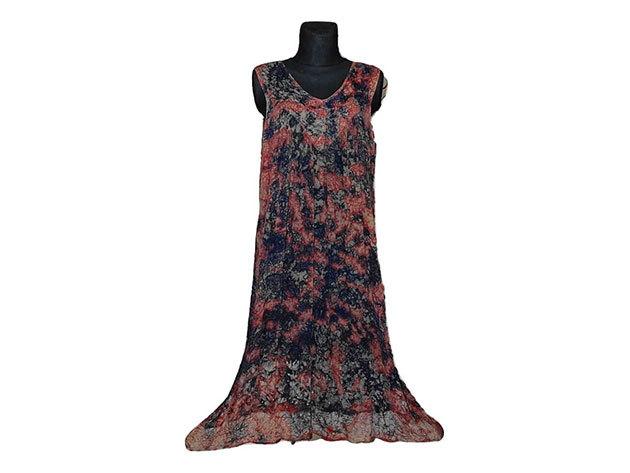 Nagy méretű hosszú ruha Indiából 2510 - bordó
