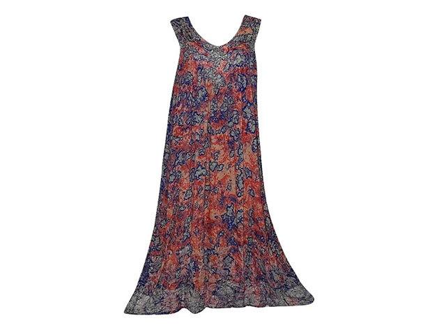 Nagy méretű hosszú ruha Indiából 2510 - bordós