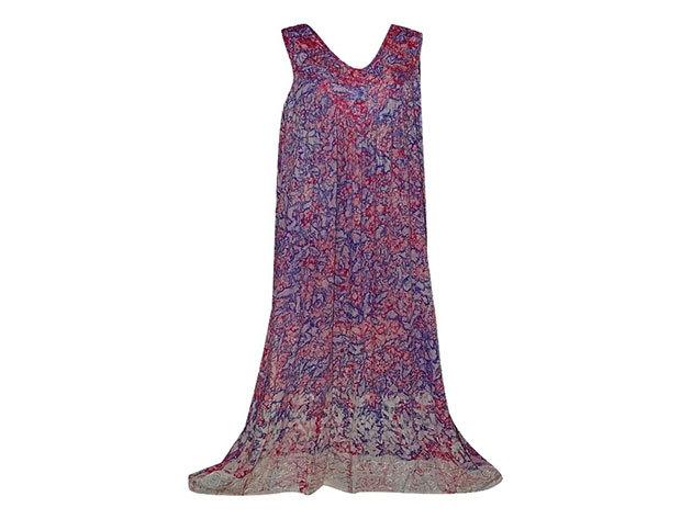 Nagy méretű hosszú ruha Indiából 2510 - lila