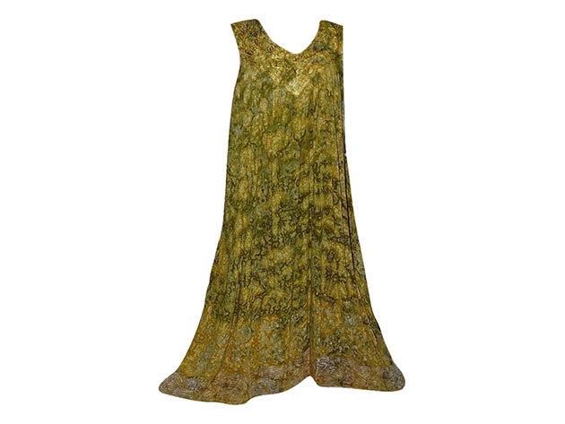 Nagy méretű hosszú ruha Indiából 2510 - sárga