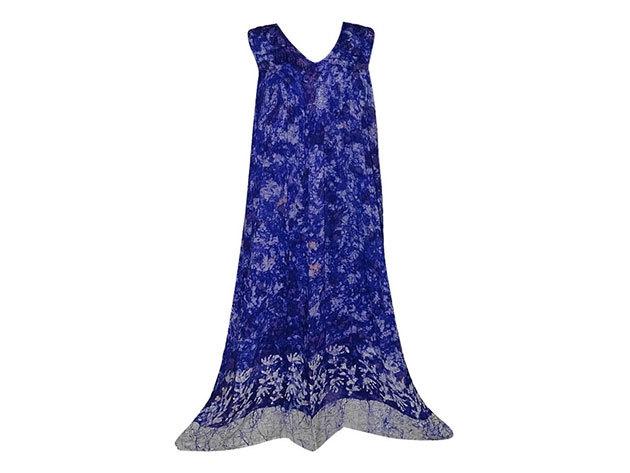 Nagy méretű hosszú ruha Indiából 2510 - kék