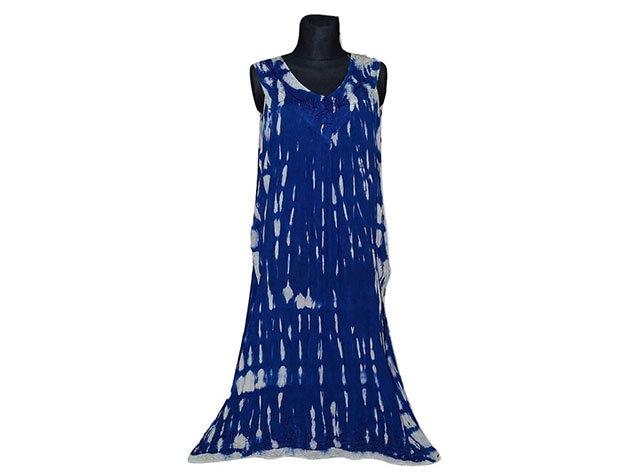 Nagy méretű hosszú ruha Indiából 2511 - kék