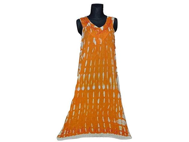 Nagy méretű hosszú ruha Indiából 2511 - narancssárga