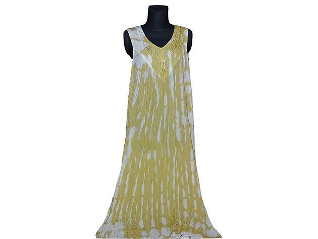 Nagy méretű hosszú ruha Indiából 2511 - sárga