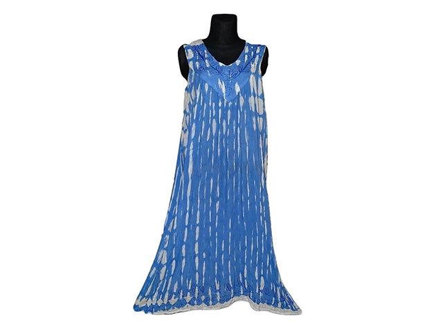 Nagy méretű hosszú ruha Indiából 2511 - világoskék