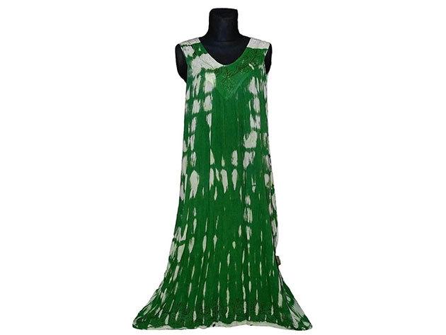 Nagy méretű hosszú ruha Indiából 2511 - zöld