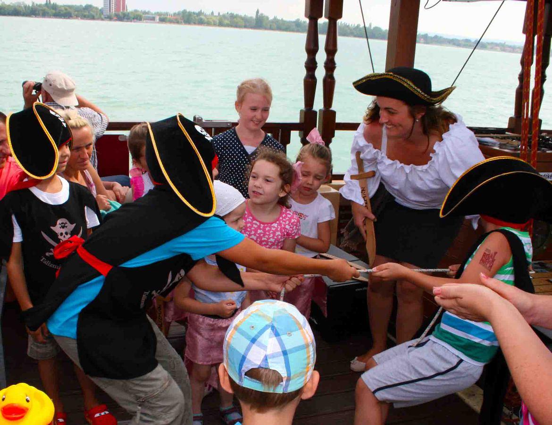 Hajós élményprogram gyerekzsúrokra max. 20 főig