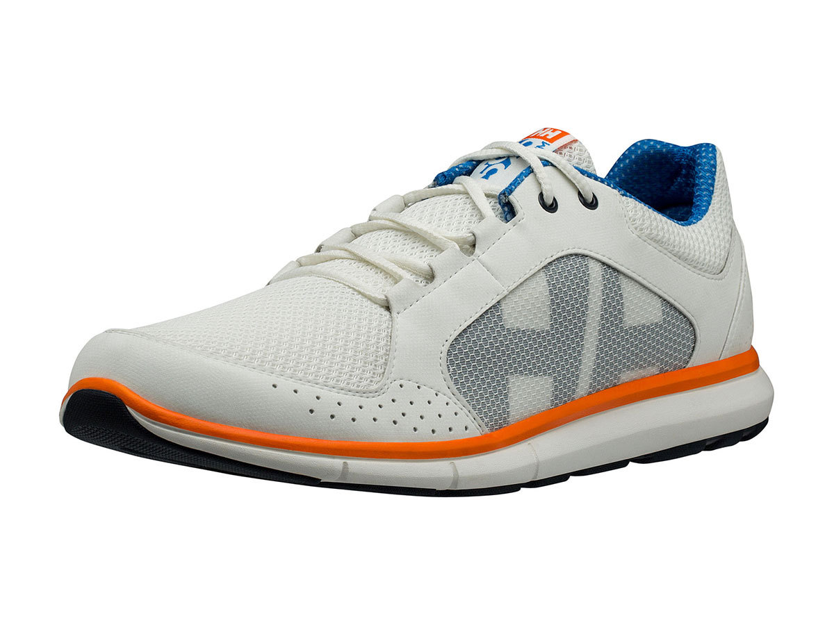 Helly Hansen AHIGA V3 HYDROPOWER - OFF WHITE / RACER BLUE / - EU 44/US 10 (11215_012-10 )