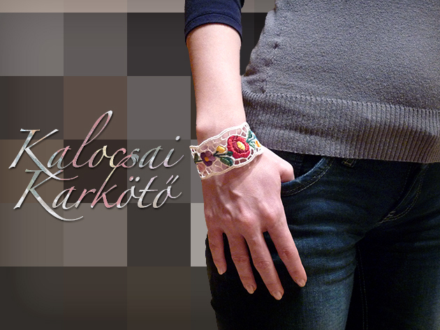 Légy hagyományőrző és egyben divatos a kézzel készített kalocsai mintás karkötővel!