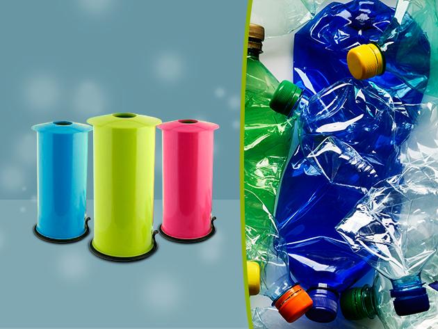 A szelektív hulladékgyűjtés elengedhetetlen kelléke: Háztartási PET palack és alumínium doboz-prés 2.990 Ft-ért!