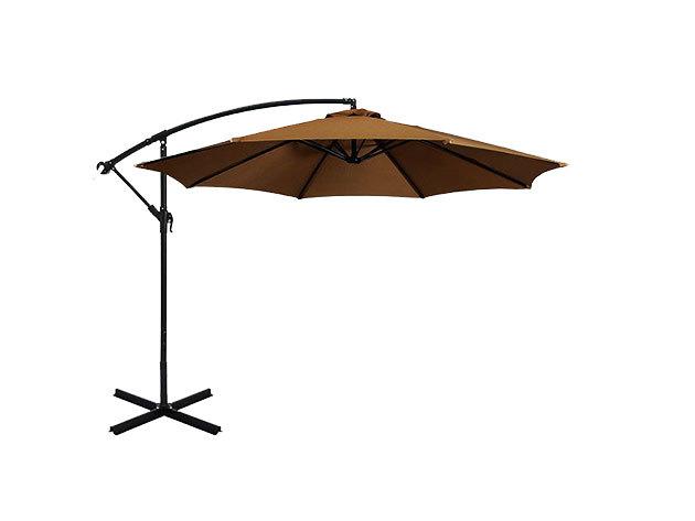 Függő napernyő, 2,7m, kheki - HOP1000812-3