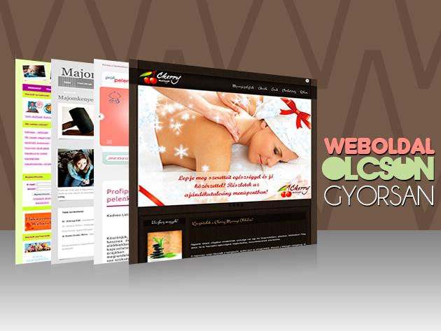 Professzionális weboldal vagy webshop készítés fél áron, 72.000 Ft helyett 36.000 Ft-ért!