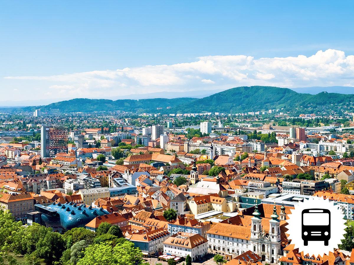 Graz, buszos utazás szeptemberben: boszorkányok vára és Stájerország fővárosának felfedezése / fő