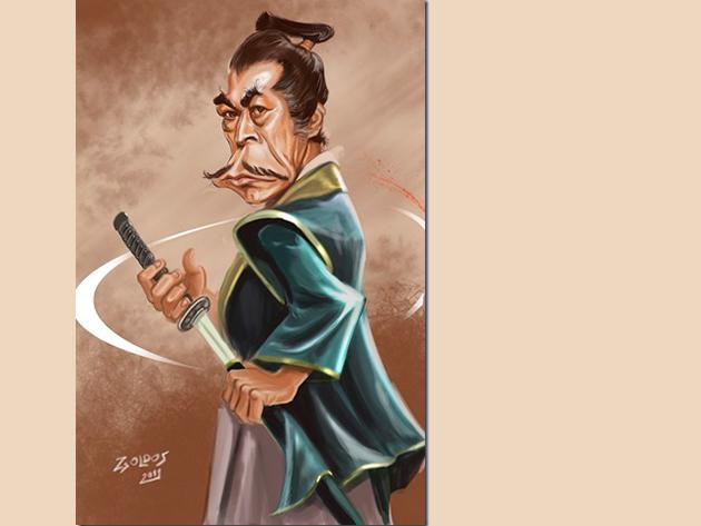 Portré karikatúra, 1 arc + hobbi. - Digitálisan.