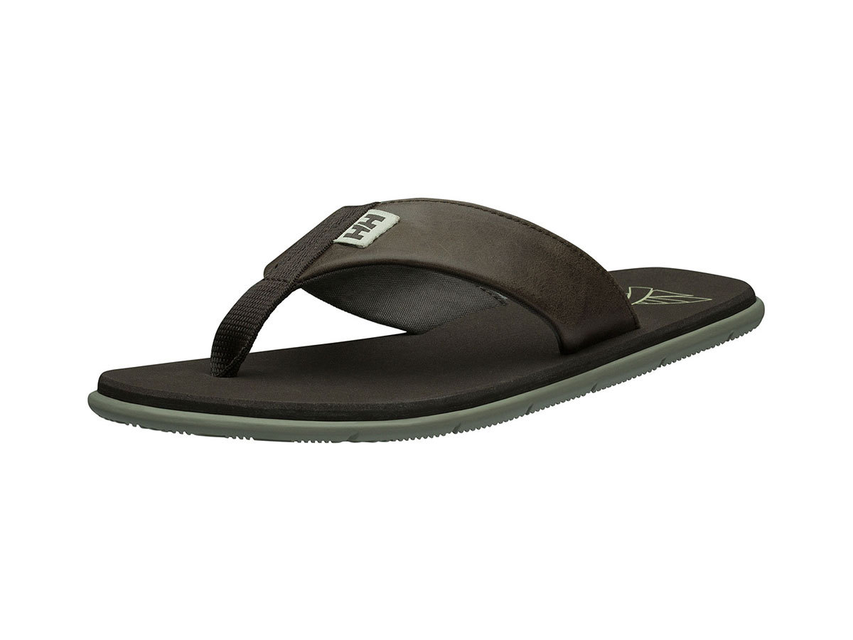 Helly Hansen SEASAND LEATHER SANDAL - ESPRESSO / FALLEN ROCK / - EU 46.5/US 12 (11495_713-12 )