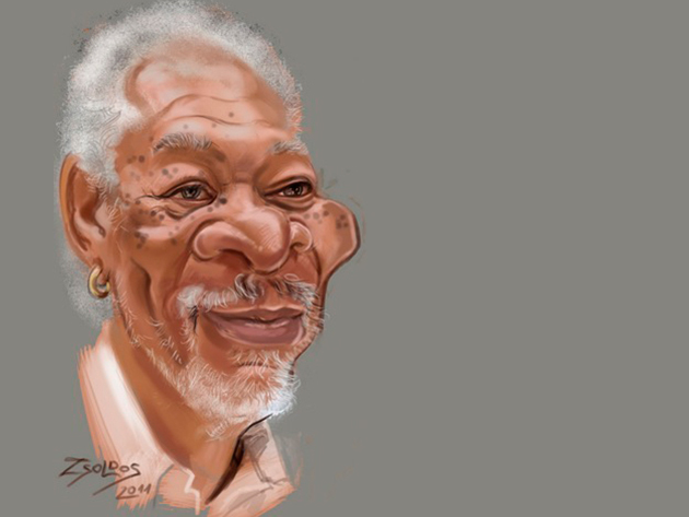 Portré karikatúra, 1 arc. - Digitálisan