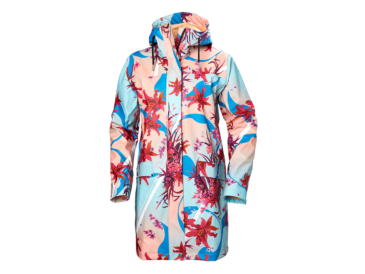 Helly Hansen W MOSS RAIN COAT - NAITO FLOWER - XL (53251_109-XL )
