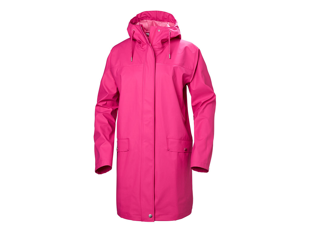 Helly Hansen W MOSS RAIN COAT - DRAGON FRUIT - XS (53251_181-XS )
