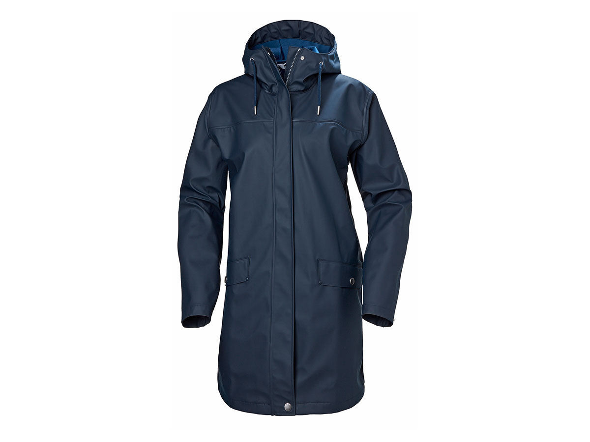 Helly Hansen W MOSS RAIN COAT - NAVY - XL (53251_597-XL )