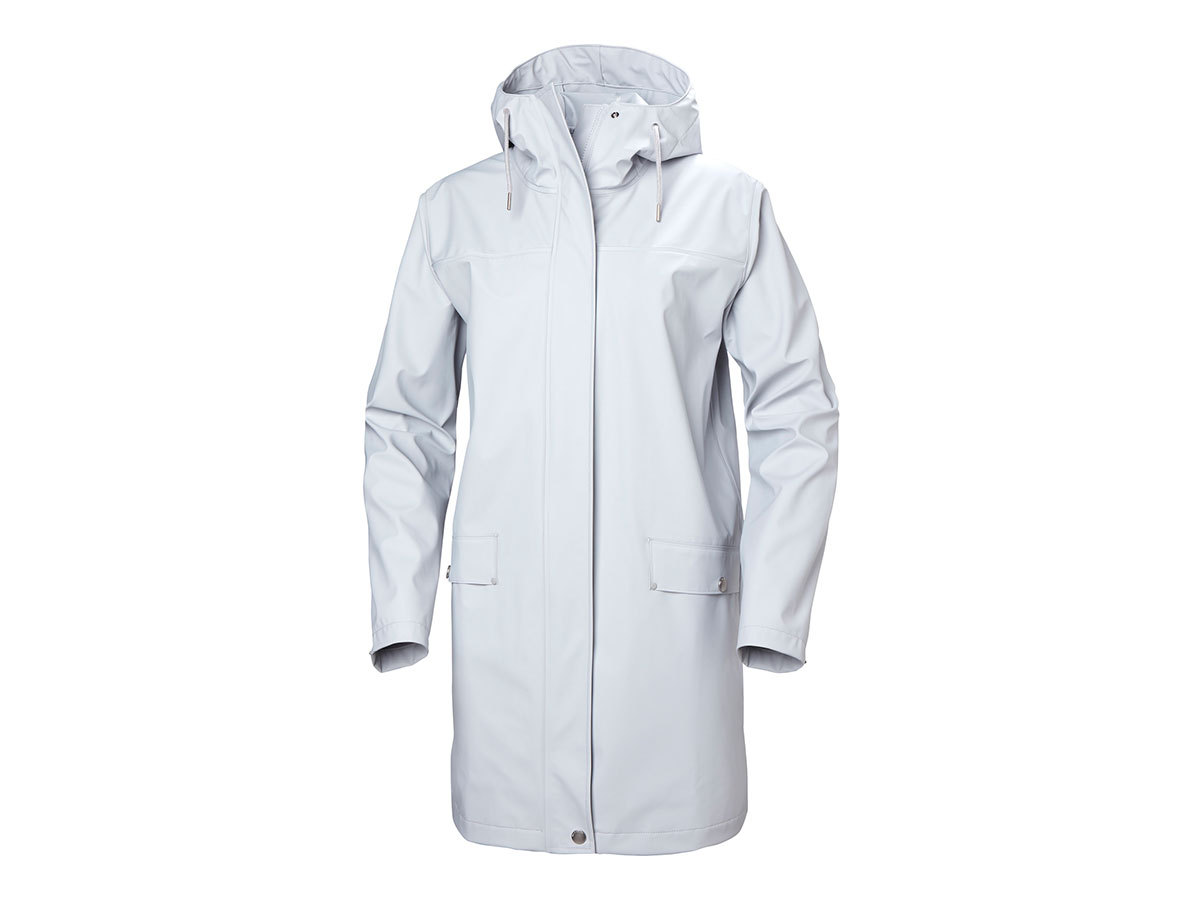 Helly Hansen W MOSS RAIN COAT - GREY FOG - XL (53251_853-XL )