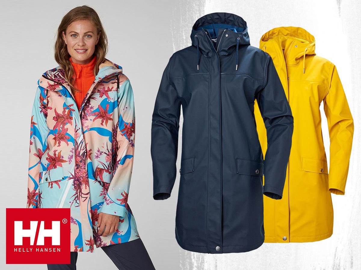 Helly Hansen W MOSS RAIN COAT női esőkabátok prémium minőségben, Helox+ vízálló anyagból