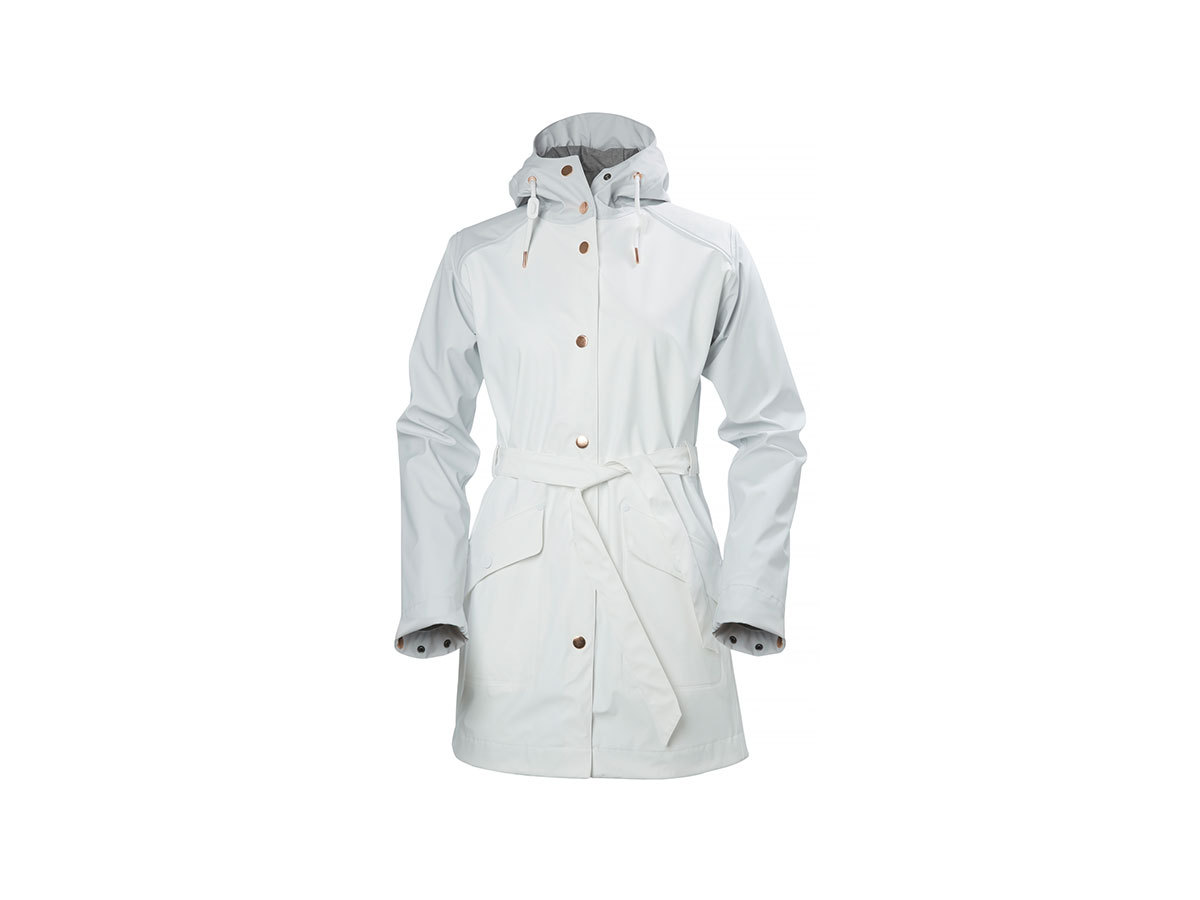 Helly Hansen W KIRKWALL RAIN COAT - WHITE - M (64014_001-M )