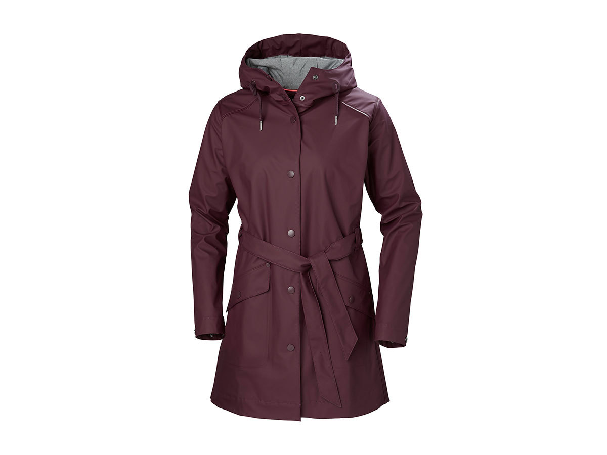 Helly Hansen W KIRKWALL RAIN COAT - WILD ROSE - L (64014_662-L )