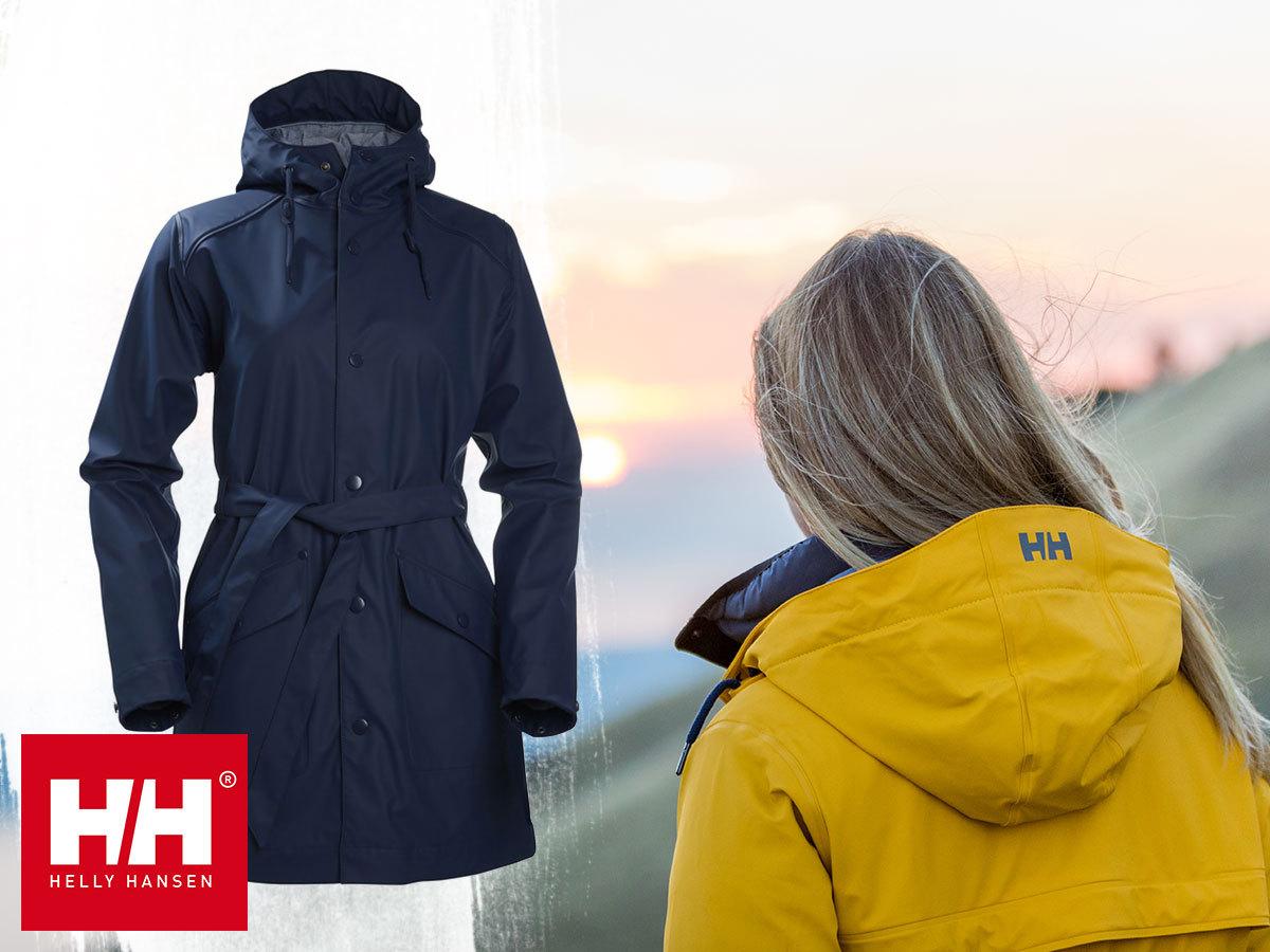 Helly Hansen W KIRKWALL RAIN COAT női esőkabát - Helox+ vízálló, rugalmas anyagból, karcsúsított szabással