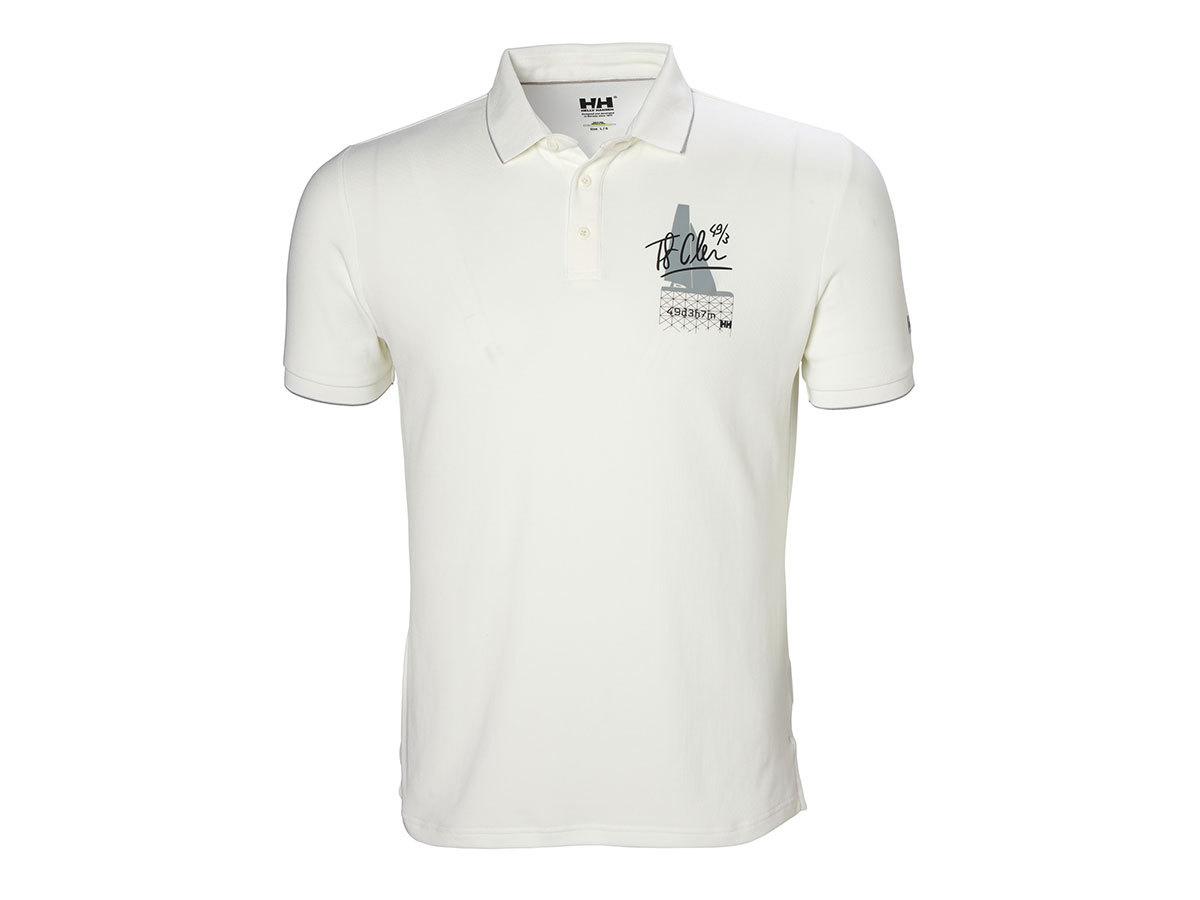 Helly Hansen HP RACING POLO - WHITE - XXL (53012_003-2XL )