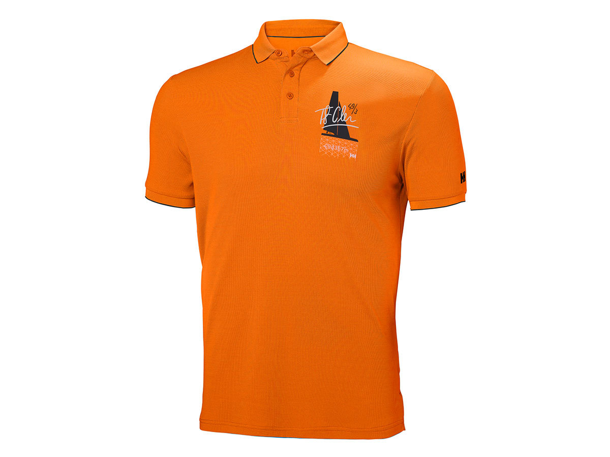 Helly Hansen HP RACING POLO - BLAZE ORANGE - XL (53012_282-XL )