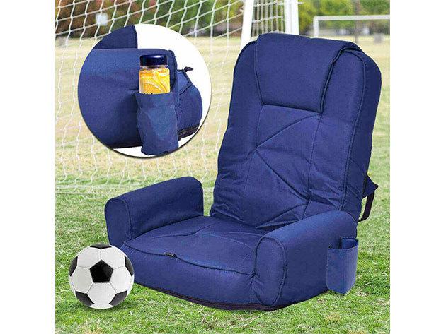 Mobil fotel 5 állásba állítható háttámla, oldalzsebekkel, mosható huzattal, pohártartóval