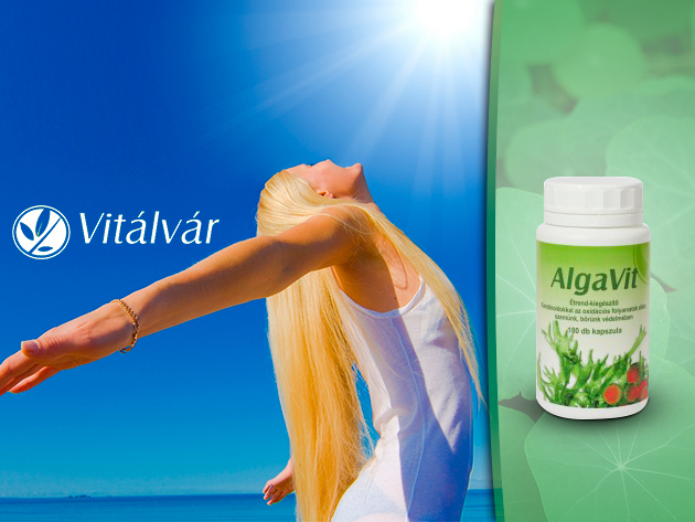 AlgaVit 180 db-os étrendkiegészítő, 3 féle algával és antioxidánssal szervezetünk védelméért!