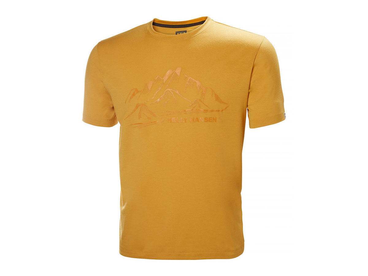 Helly Hansen SKOG GRAPHIC T-SHIRT - GOLDEN GLOW - M (62856_343-M )