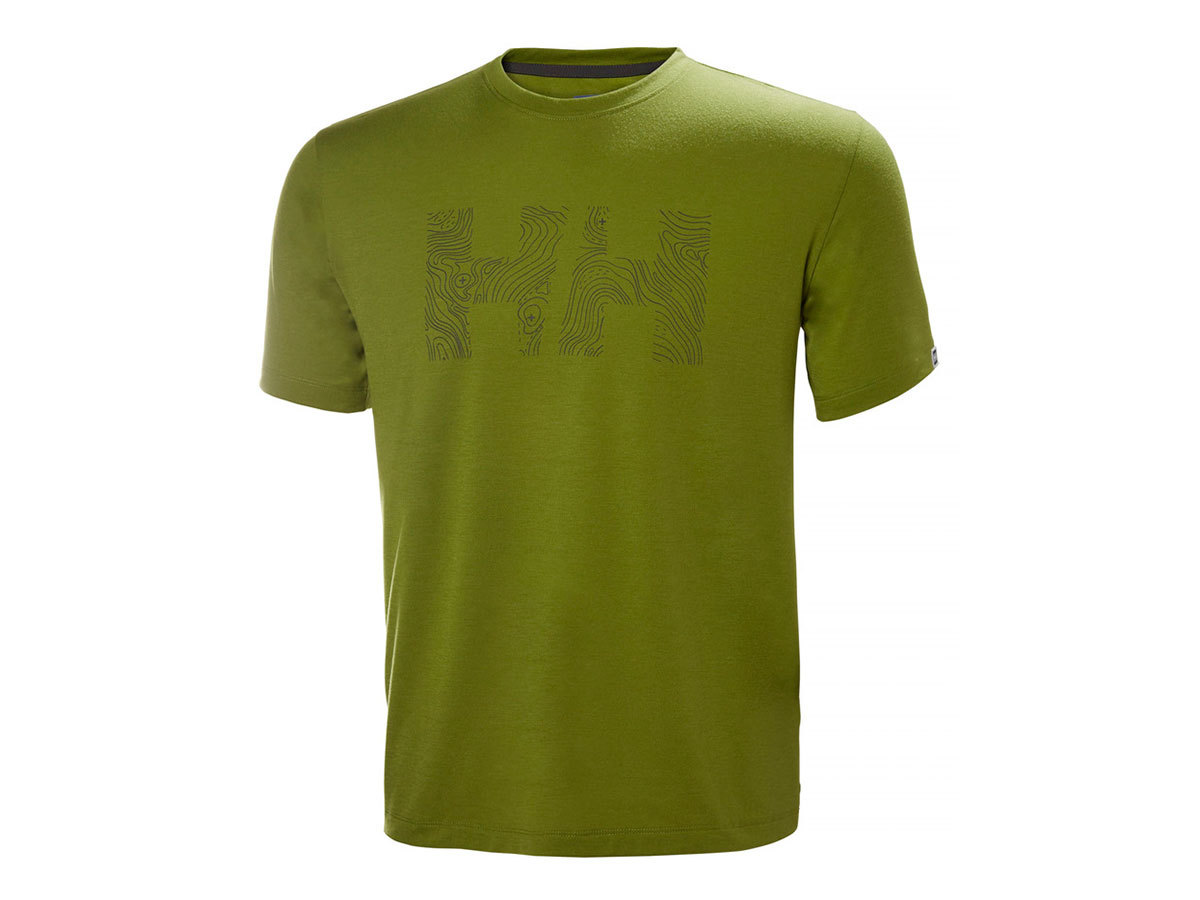 Helly Hansen SKOG GRAPHIC T-SHIRT - WOOD GREEN - L (62856_407-L )