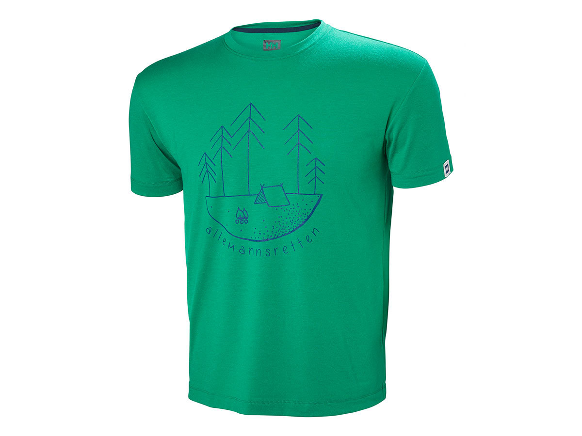 Helly Hansen SKOG GRAPHIC T-SHIRT - PEPPER GREEN - M (62856_471-M )