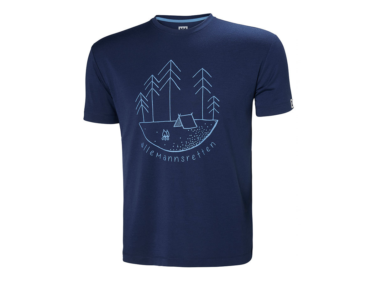 Helly Hansen SKOG GRAPHIC T-SHIRT - CATALINA BLUE - L (62856_541-L )
