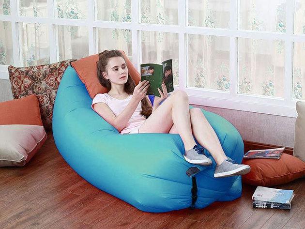 Levegővel tölthető relax ágy választható színben, kempingezéshez, strandra, fesztiválra és otthonra