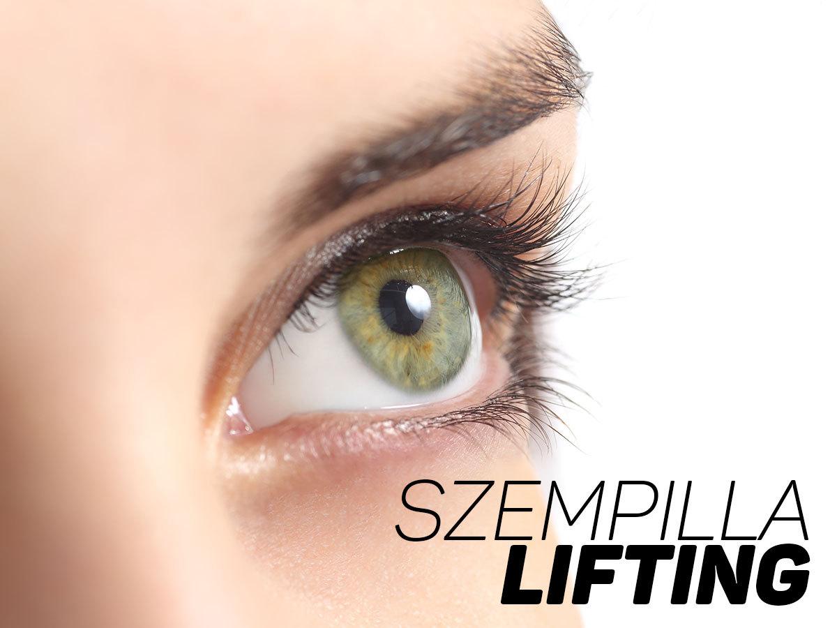 Szempilla lifting - természetes, tartós eljárás a pillák emelésére, a belvárosi Lendvai stúdióban