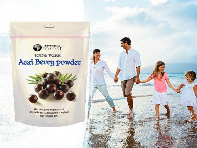 Szuperélelmiszer 100% Pure Acai berry por (50g) - fogyasztó hatású étrend-kiegészítő, mely rengeteg aminosavat, fehérjét, vitamint és ásványi anyagot tartalmaz